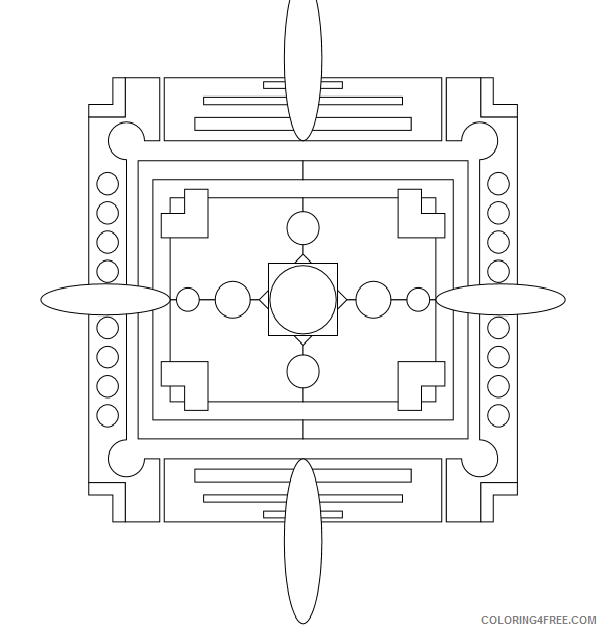Geometric Design Coloring Pages Adult geometric sheets Printable 2020 433 Coloring4free
