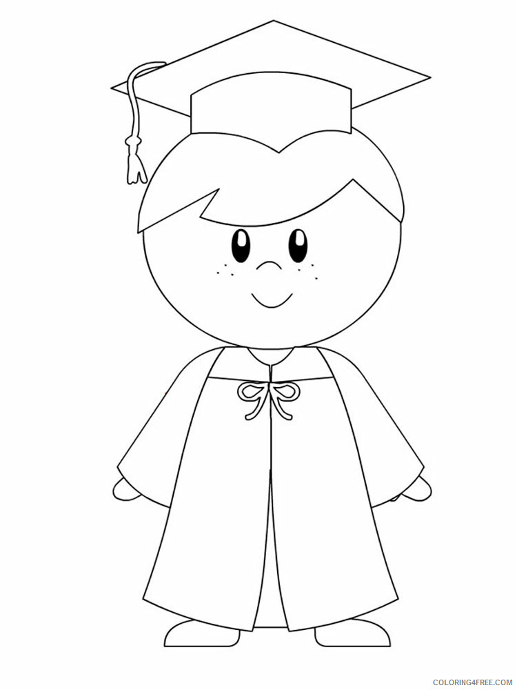 Graduation Coloring Pages Educational Graduation 12 Printable 2020 1522  Coloring4free - Coloring4Free.com