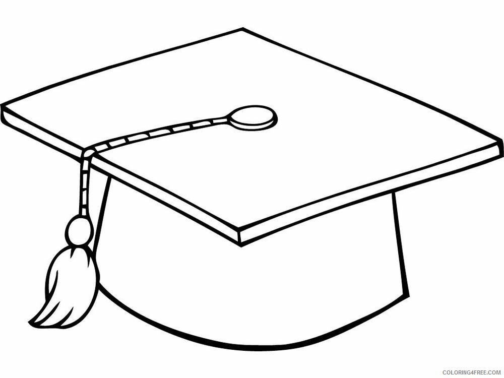 Graduation Coloring Pages Educational Graduation 5 Printable 2020 1525  Coloring4free - Coloring4Free.com