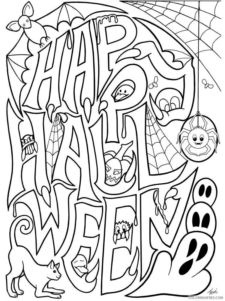 Halloween for Adults Coloring Pages halloween for adults 1 Printable 2020 628 Coloring4free