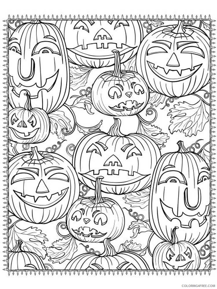 Halloween for Adults Coloring Pages halloween for adults 13 Printable 2020 631 Coloring4free
