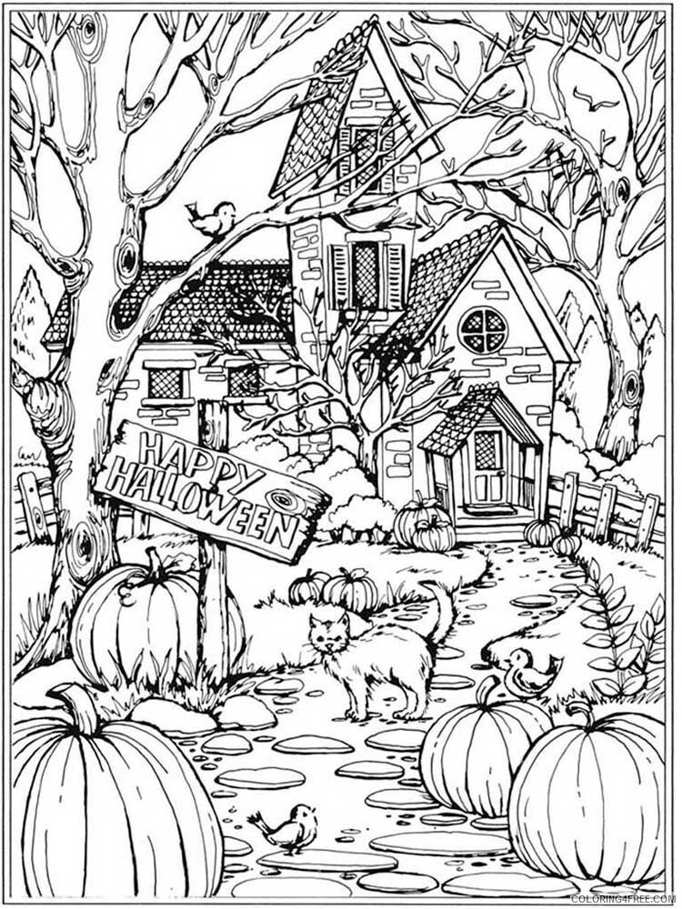 Halloween for Adults Coloring Pages halloween for adults 4 Printable 2020 636 Coloring4free