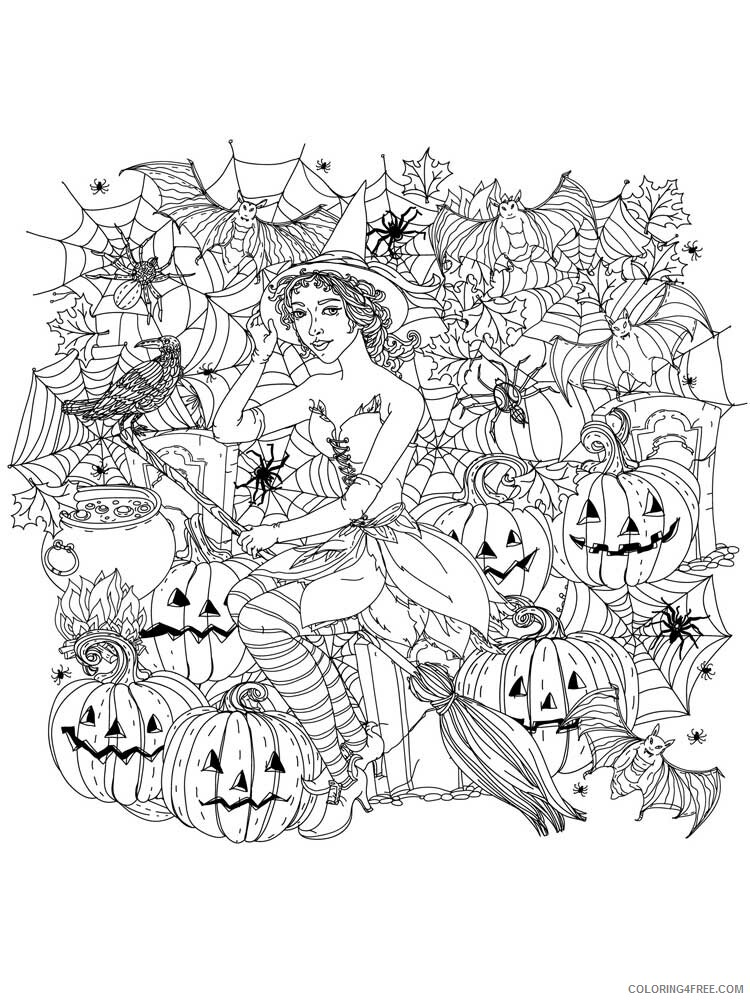 Halloween for Adults Coloring Pages halloween for adults 7 Printable 2020 639 Coloring4free