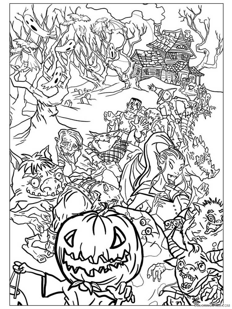 Halloween for Adults Coloring Pages halloween for adults 9 Printable 2020 640 Coloring4free