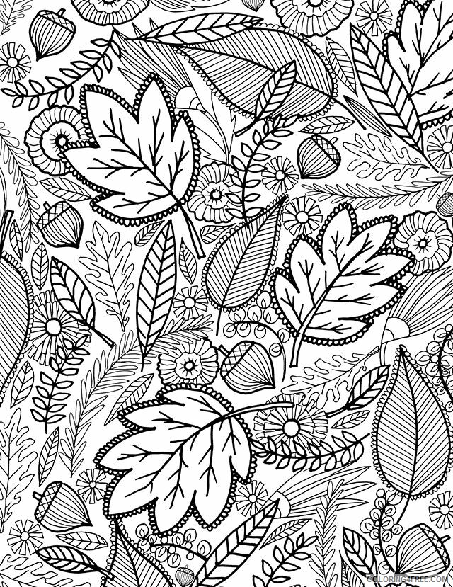 Hard for Adults Coloring Pages Fall Leaves for Adults Hard Printable 2020 642 Coloring4free