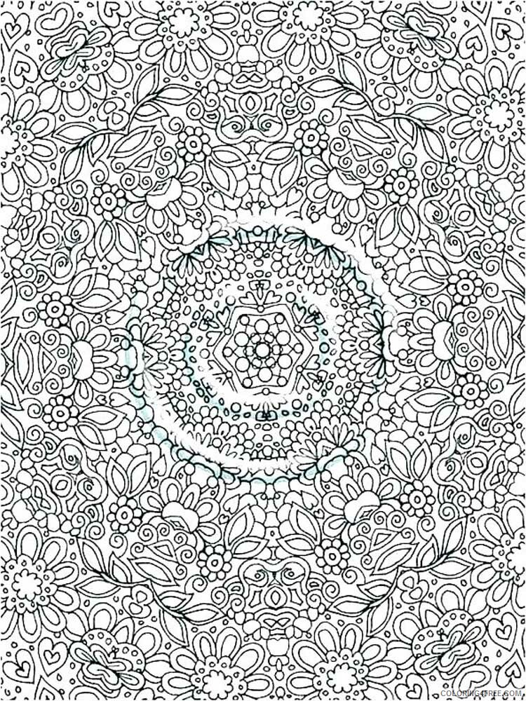 Hard for Adults Coloring Pages hard for adults 14 Printable 2020 652 Coloring4free