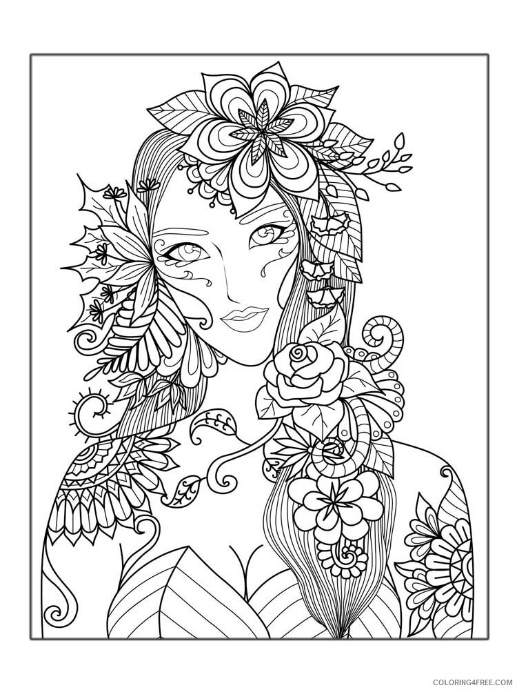 Hard for Adults Coloring Pages hard for adults 8 Printable 2020 665 Coloring4free