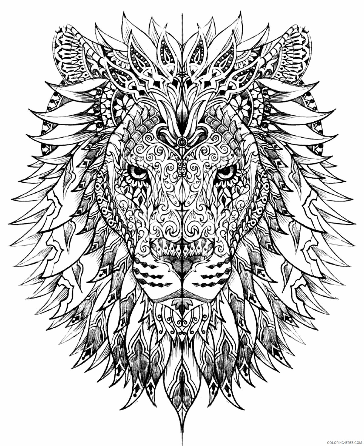 Hard for Adults Coloring Pages hard pictures Printable 2020 669 Coloring4free