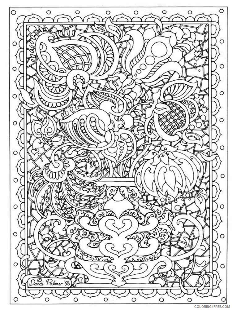 Intricate for Adults Coloring Pages intricate for adults 18 Printable 2020 680 Coloring4free