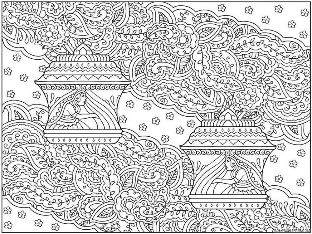 Intricate for Adults Coloring Pages intricate for adults 6 Printable 2020 681 Coloring4free