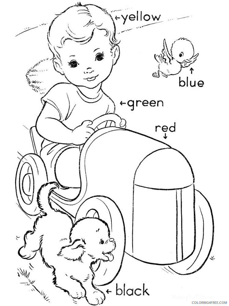 Learning Colors Coloring Pages Educational Learnings 13 Printable 2020 1544  Coloring4free - Coloring4Free.com
