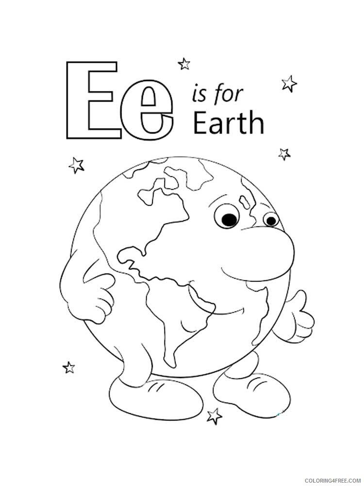 Letter E Coloring Pages Alphabet Educational Letter E Of 15 Printable 2020 065 Coloring4free Coloring4free Com