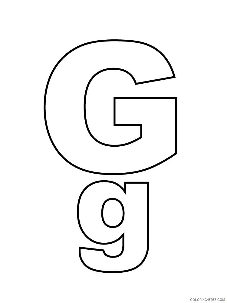 Letter G Coloring Pages Alphabet Educational Letter G Of 6 Printable 2020 096 Coloring4free Coloring4free Com