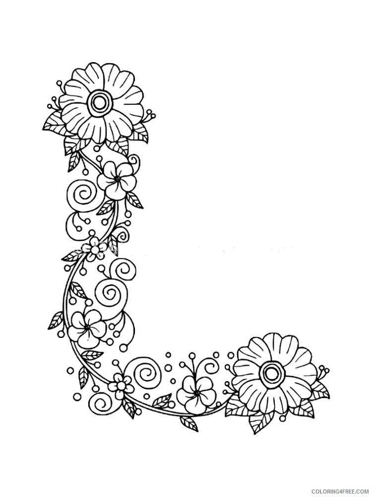 Letter L Coloring Pages Alphabet Educational Letter L Of 6 Printable 2020 152 Coloring4free Coloring4free Com