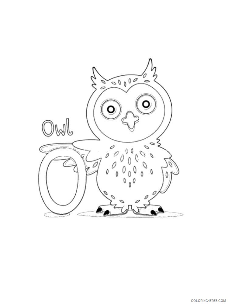 Letter O Coloring Pages Alphabet Educational Letter O Of 11 Printable 2020 175 Coloring4free Coloring4free Com