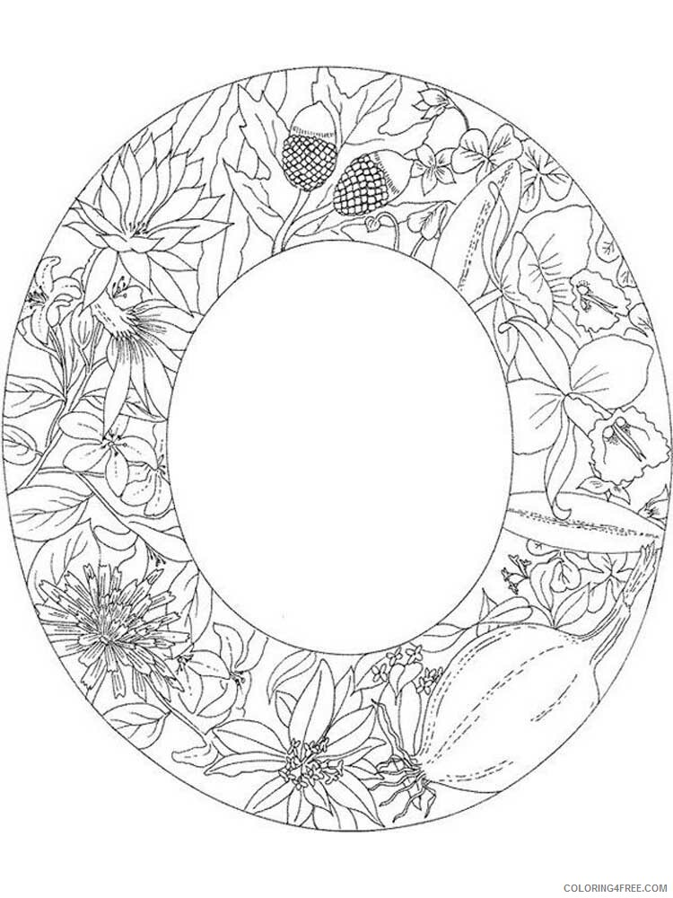 Letter O Coloring Pages Alphabet Educational Letter O Of 3 Printable 2020 178 Coloring4free Coloring4free Com