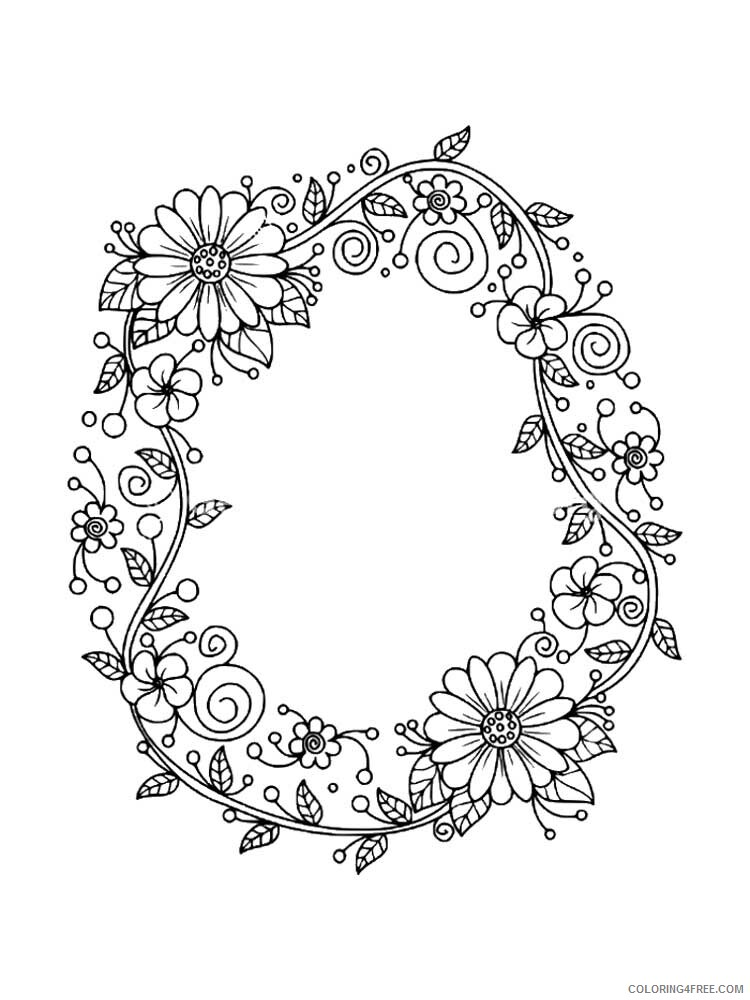 Letter O Coloring Pages Alphabet Educational Letter O Of 4 Printable 2020 179 Coloring4free Coloring4free Com