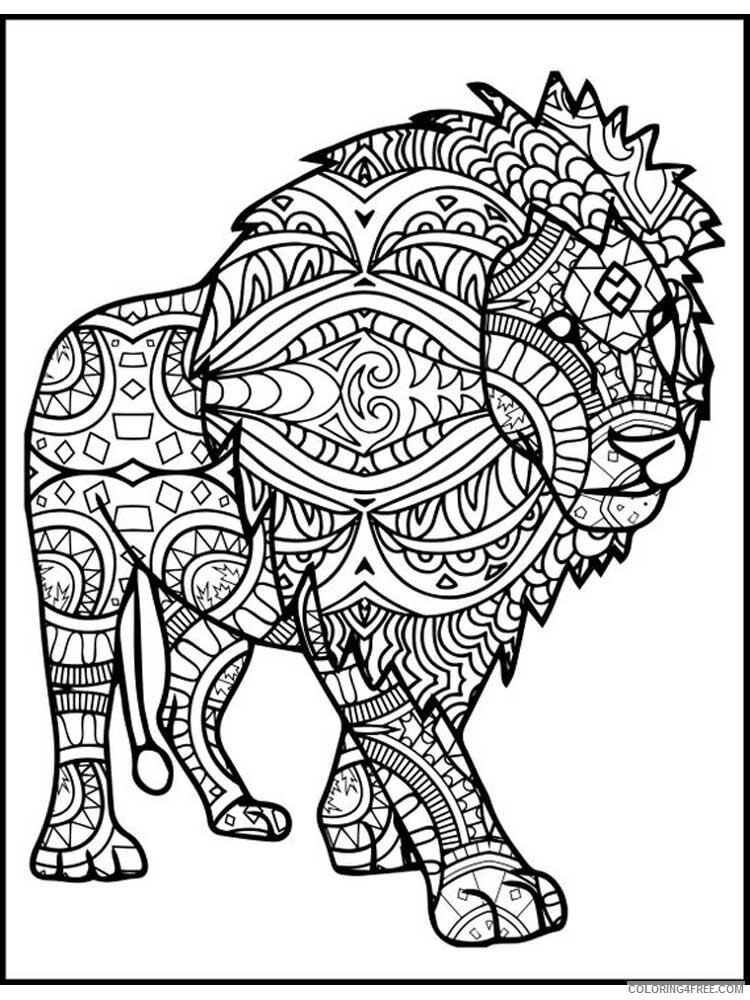 Lion Coloring Pages Adult lion for adults 10 Printable 2020 497 Coloring4free