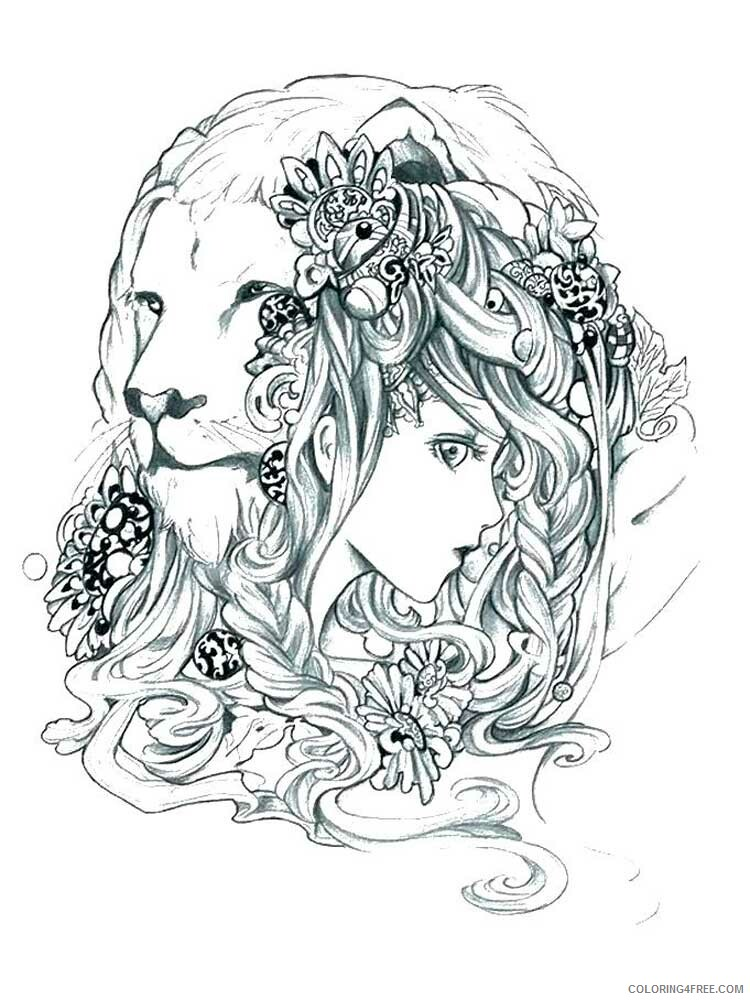 Lion Coloring Pages Adult lion for adults 13 Printable 2020 500 Coloring4free