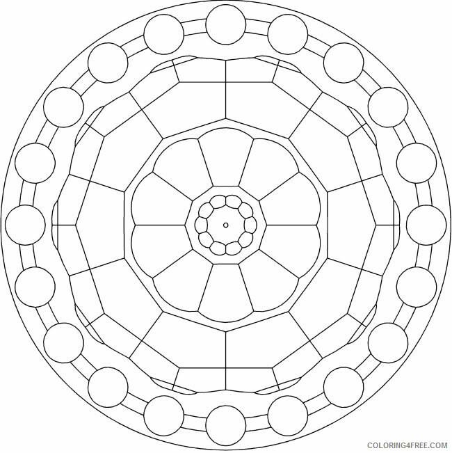 Mandala Coloring Pages Adult Easy Mandala Printable 2020 528 Coloring4free