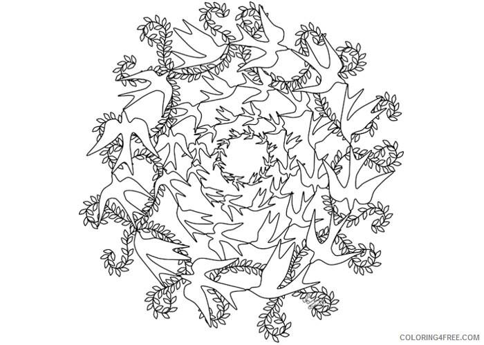 Mandala Coloring Pages Adult Fancy mandala Printable 2020 530 Coloring4free