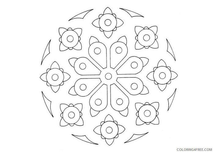 Mandala Coloring Pages Adult Mandala 2 Printable 2020 553 Coloring4free