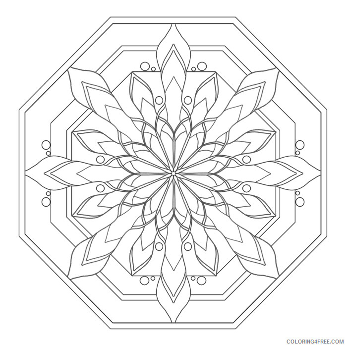 Mandala Coloring Pages Adult Mandala Easy Printable 2020 602 Coloring4free  - Coloring4Free.com