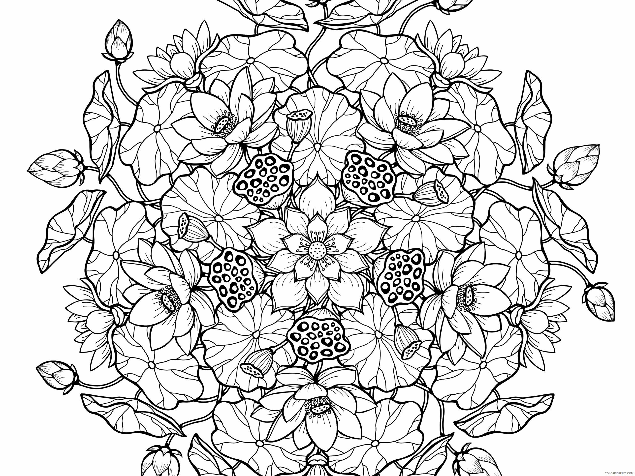 Mandala Coloring Pages Adult Mandala Floral For Adults Printable 2020 616 Coloring4free