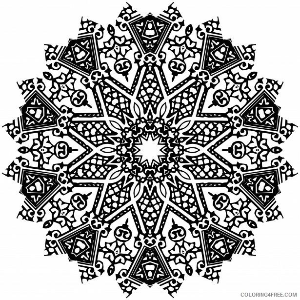 Mandala Coloring Pages Adult free mandala 2 Printable 2020 532 Coloring4free