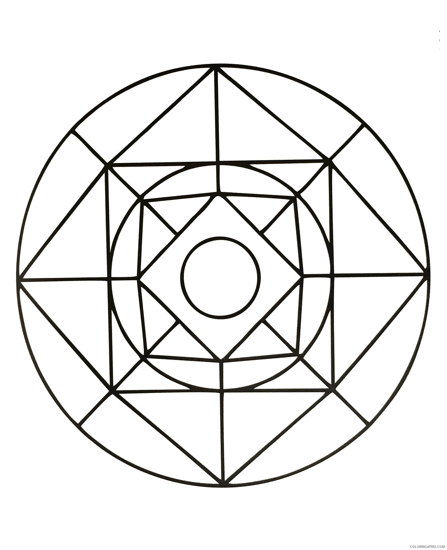 Mandala Coloring Pages Adult free to print Printable 2020 512 Coloring4free