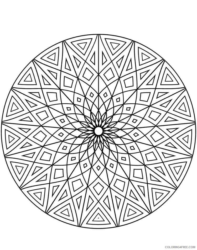 Mandala Coloring Pages Adult mandala adult 1 Printable 2020 556 Coloring4free