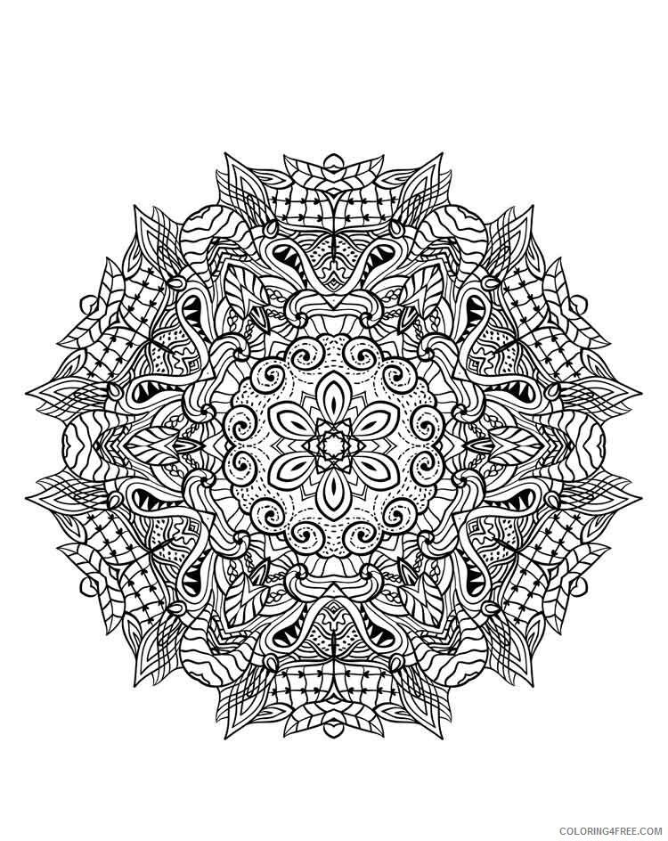 Mandala Coloring Pages Adult mandala adult 13 Printable 2020 560 Coloring4free