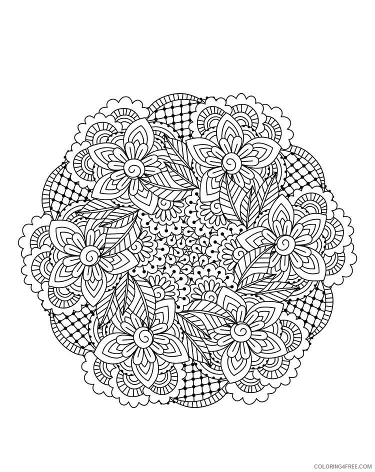 Mandala Coloring Pages Adult mandala adult 15 Printable 2020 562 Coloring4free