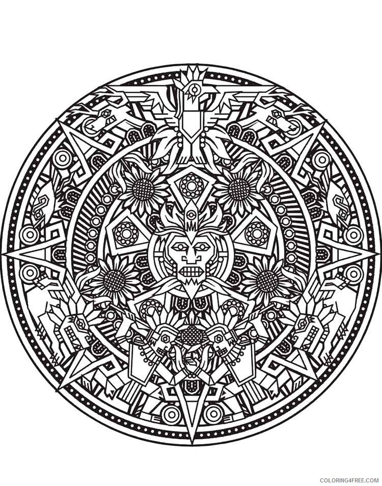 Mandala Coloring Pages Adult mandala adult 16 Printable 2020 563 Coloring4free