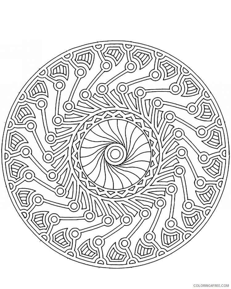 Mandala Coloring Pages Adult mandala adult 18 Printable 2020 565 Coloring4free
