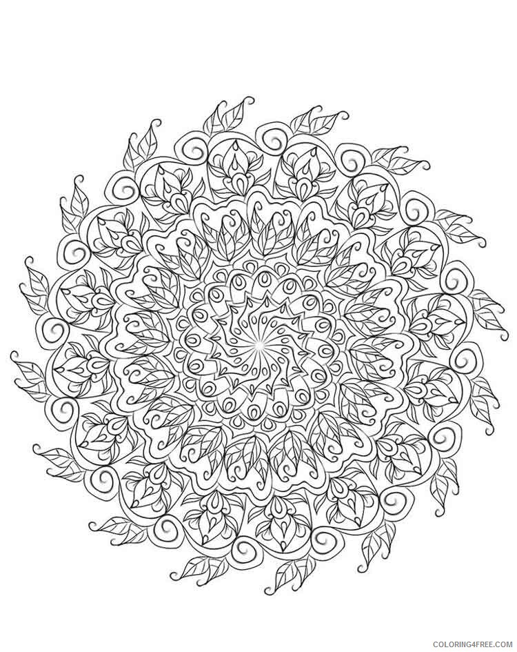 Mandala Coloring Pages Adult mandala adult 20 Printable 2020 568 Coloring4free