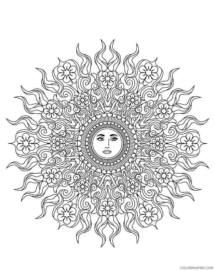 Mandala Coloring Pages Adult mandala adult 21 Printable 2020 569 Coloring4free