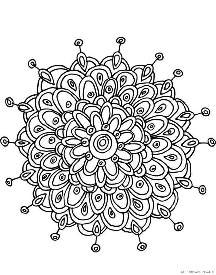 Mandala Coloring Pages Adult mandala adult 22 Printable 2020 570 Coloring4free
