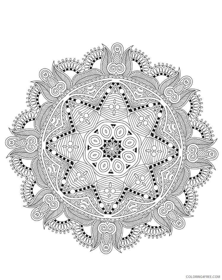 Mandala Coloring Pages Adult mandala adult 24 Printable 2020 572 Coloring4free