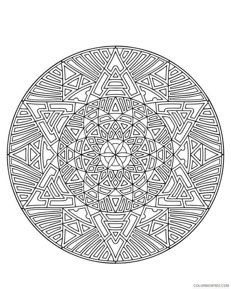 Mandala Coloring Pages Adult mandala adult 25 Printable 2020 573 Coloring4free