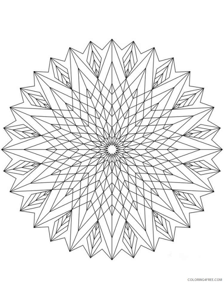 Mandala Coloring Pages Adult mandala adult 27 Printable 2020 575 Coloring4free
