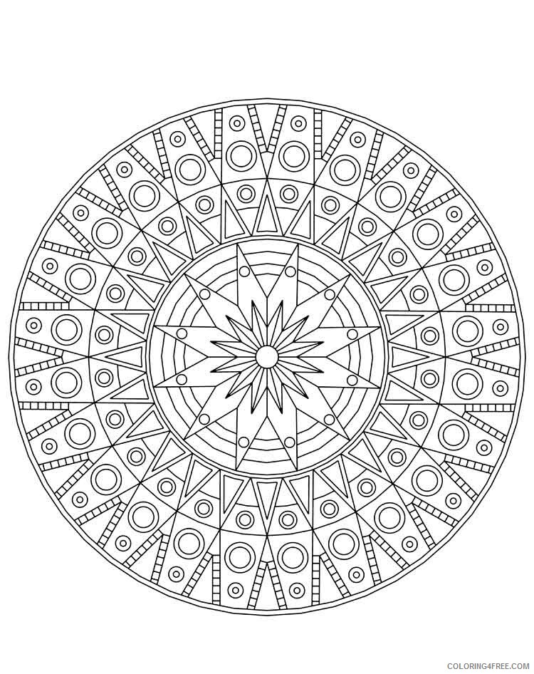 Mandala Coloring Pages Adult mandala adult 3 Printable 2020 578 Coloring4free