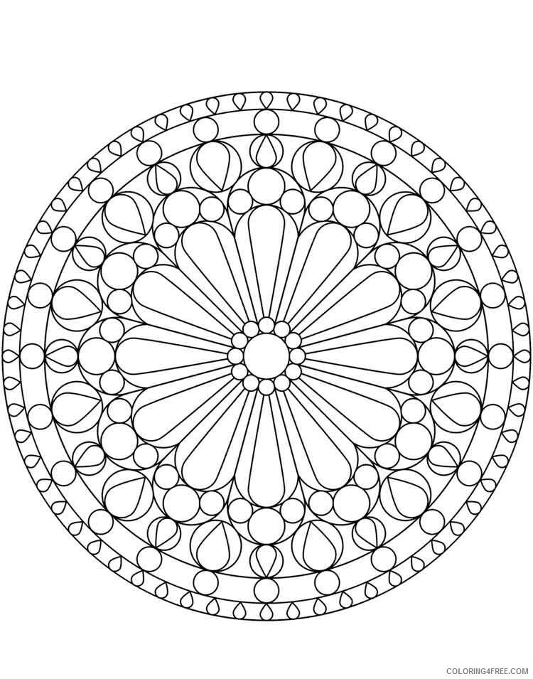 Mandala Coloring Pages Adult mandala adult 32 Printable 2020 581 Coloring4free