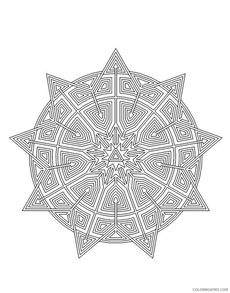 Mandala Coloring Pages Adult mandala adult 34 Printable 2020 583 Coloring4free