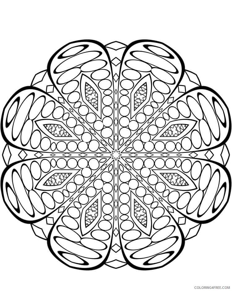 Mandala Coloring Pages Adult mandala adult 37 Printable 2020 586 Coloring4free