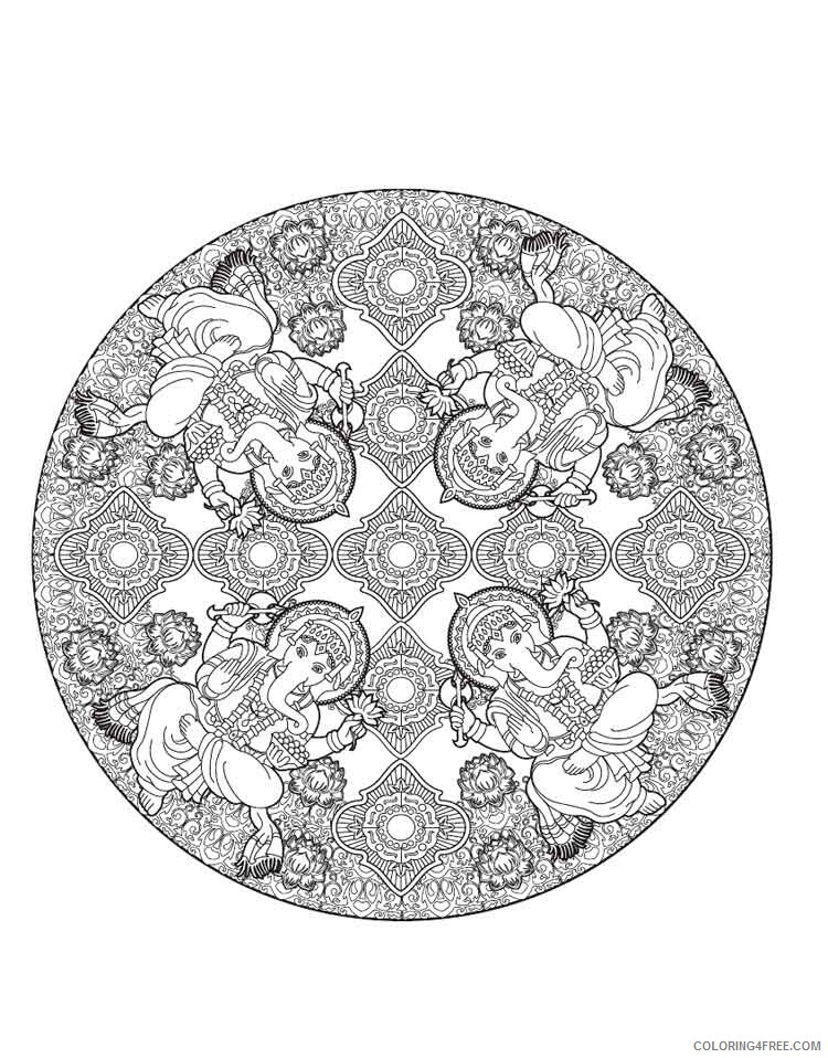 Mandala Coloring Pages Adult mandala adult 39 Printable 2020 588 Coloring4free