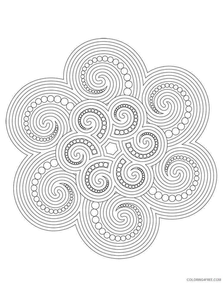 Mandala Coloring Pages Adult mandala adult 42 Printable 2020 591 Coloring4free