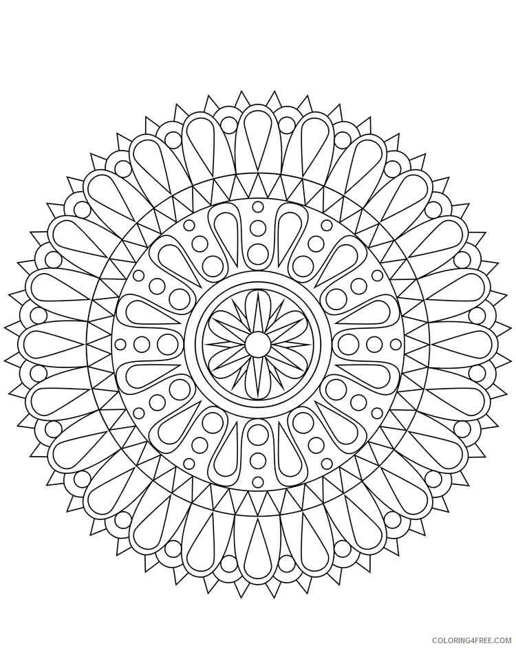 Mandala Coloring Pages Adult mandala adult 43 Printable 2020 592 Coloring4free