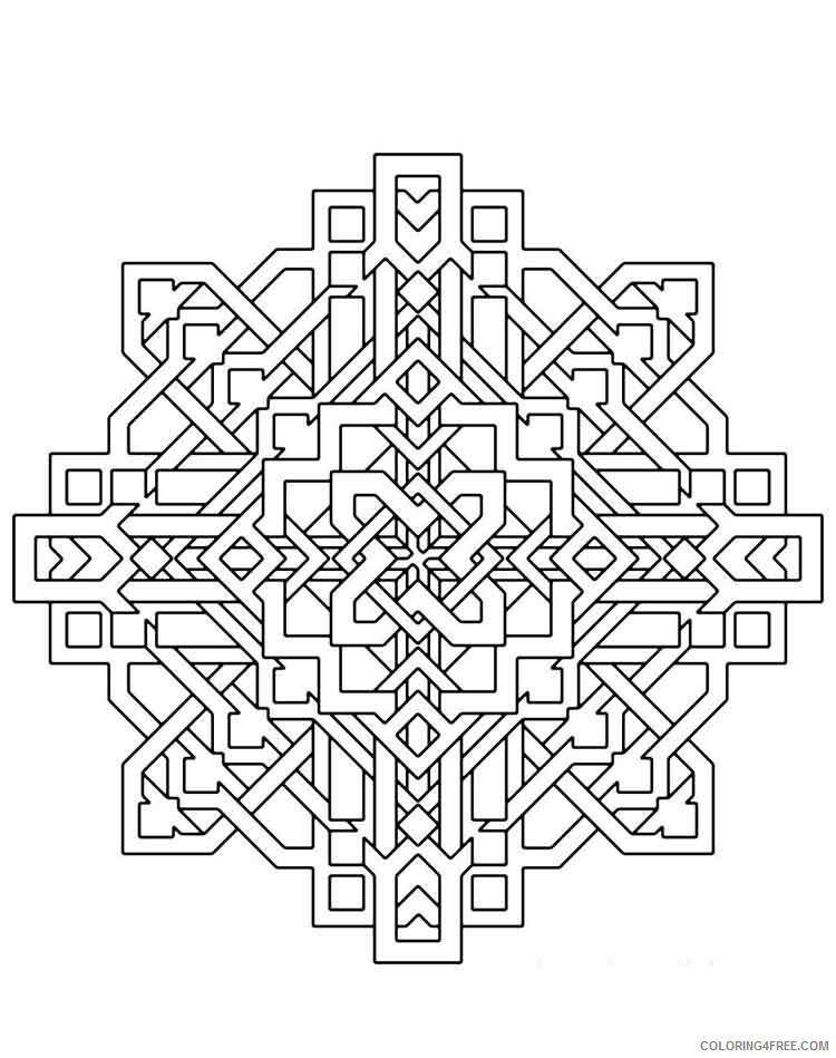 Mandala Coloring Pages Adult mandala adult 46 Printable 2020 593 Coloring4free