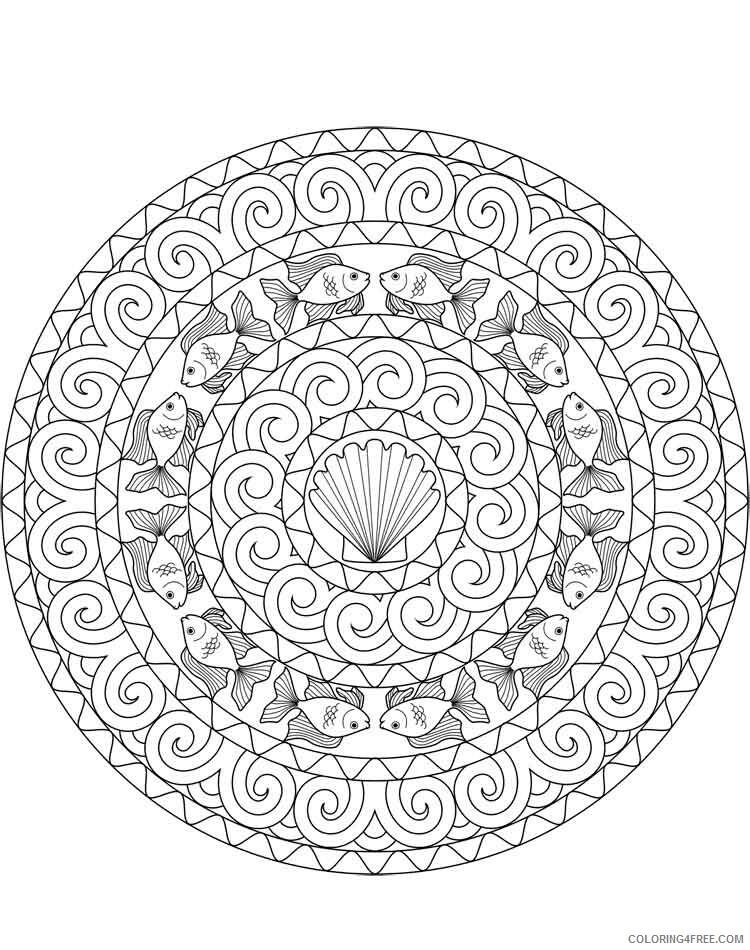 Mandala Coloring Pages Adult mandala adult 48 Printable 2020 595 Coloring4free
